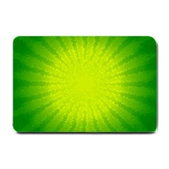 Radial Green Crystals Crystallize Small Doormat