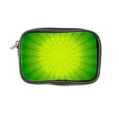 Radial Green Crystals Crystallize Coin Purse