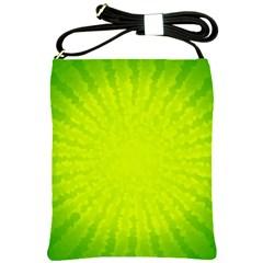 Radial Green Crystals Crystallize Shoulder Sling Bags