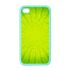 Radial Green Crystals Crystallize Apple iPhone 4 Case (Color)
