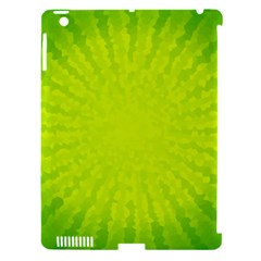 Radial Green Crystals Crystallize Apple iPad 3/4 Hardshell Case (Compatible with Smart Cover)