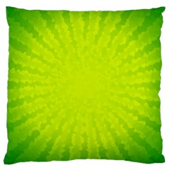 Radial Green Crystals Crystallize Large Cushion Case (Two Sides)