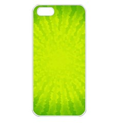 Radial Green Crystals Crystallize Apple iPhone 5 Seamless Case (White)