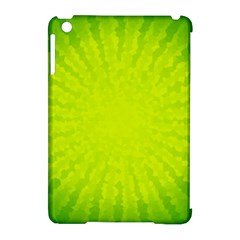 Radial Green Crystals Crystallize Apple iPad Mini Hardshell Case (Compatible with Smart Cover)