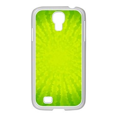 Radial Green Crystals Crystallize Samsung GALAXY S4 I9500/ I9505 Case (White)