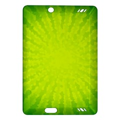Radial Green Crystals Crystallize Amazon Kindle Fire HD (2013) Hardshell Case