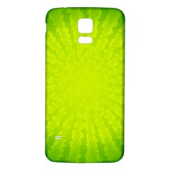 Radial Green Crystals Crystallize Samsung Galaxy S5 Back Case (White)