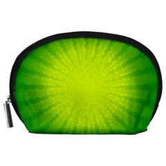 Radial Green Crystals Crystallize Accessory Pouches (Large)