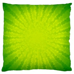 Radial Green Crystals Crystallize Standard Flano Cushion Case (One Side)