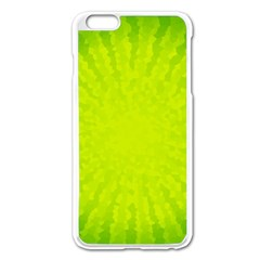 Radial Green Crystals Crystallize Apple iPhone 6 Plus/6S Plus Enamel White Case