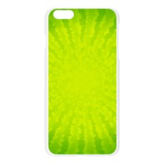 Radial Green Crystals Crystallize Apple Seamless iPhone 6 Plus/6S Plus Case (Transparent)