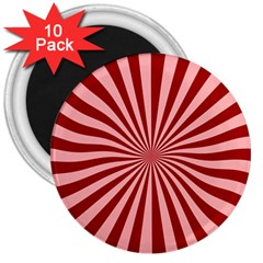 Sun Background Optics Channel Red 3  Magnets (10 pack)