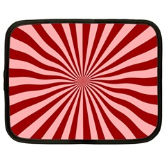 Sun Background Optics Channel Red Netbook Case (Large)
