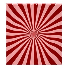 Sun Background Optics Channel Red Shower Curtain 66  x 72  (Large)