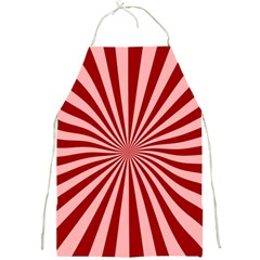 Sun Background Optics Channel Red Full Print Aprons