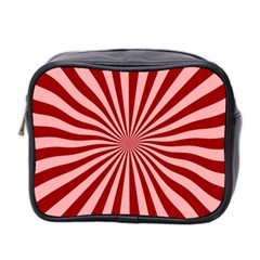 Sun Background Optics Channel Red Mini Toiletries Bag 2-Side