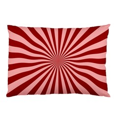 Sun Background Optics Channel Red Pillow Case (Two Sides)