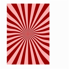Sun Background Optics Channel Red Large Garden Flag (Two Sides)