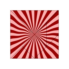 Sun Background Optics Channel Red Acrylic Tangram Puzzle (4  x 4 )