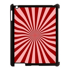 Sun Background Optics Channel Red Apple iPad 3/4 Case (Black)