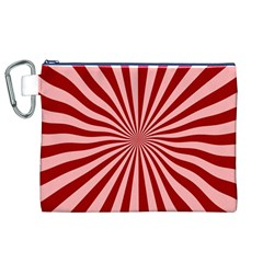 Sun Background Optics Channel Red Canvas Cosmetic Bag (XL)