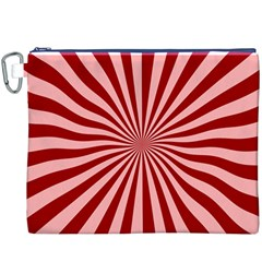 Sun Background Optics Channel Red Canvas Cosmetic Bag (XXXL)