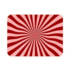 Sun Background Optics Channel Red Double Sided Flano Blanket (Mini)