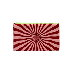 Sun Background Optics Channel Red Cosmetic Bag (XS)