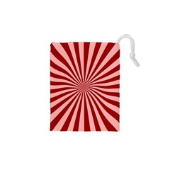 Sun Background Optics Channel Red Drawstring Pouches (XS)