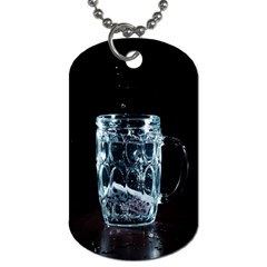 Glass Water Liquid Background Dog Tag (Two Sides)