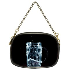 Glass Water Liquid Background Chain Purses (One Side)