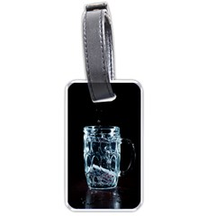 Glass Water Liquid Background Luggage Tags (One Side)