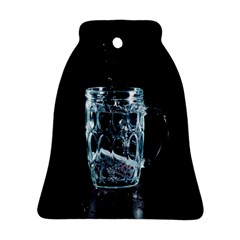 Glass Water Liquid Background Ornament (Bell)