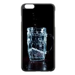 Glass Water Liquid Background Apple iPhone 6 Plus/6S Plus Black Enamel Case