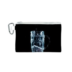 Glass Water Liquid Background Canvas Cosmetic Bag (S)