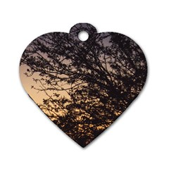 Arizona Sunset Dog Tag Heart (Two Sides)