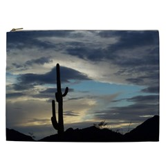 Cactus Sunset Cosmetic Bag (XXL)