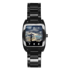 Cactus Sunset Stainless Steel Barrel Watch
