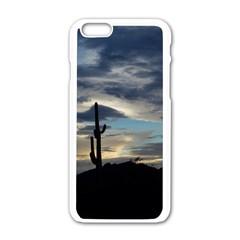 Cactus Sunset Apple iPhone 6/6S White Enamel Case