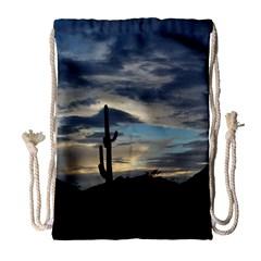Cactus Sunset Drawstring Bag (Large)