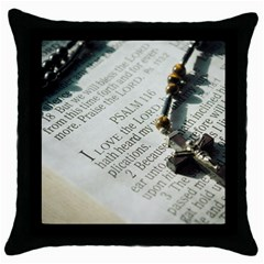 I love The Lord Throw Pillow Case (Black)