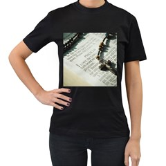 I love The Lord Women s T-Shirt (Black) (Two Sided)