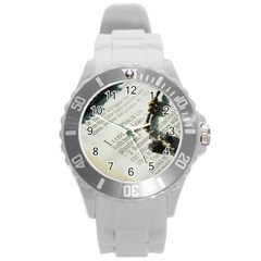 I love The Lord Round Plastic Sport Watch (L)