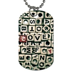 Love Dog Tag (Two Sides)