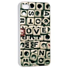 Love Apple iPhone 4/4s Seamless Case (White)