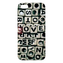 Love Apple iPhone 5 Premium Hardshell Case
