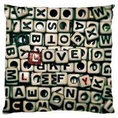 Love Standard Flano Cushion Case (One Side)
