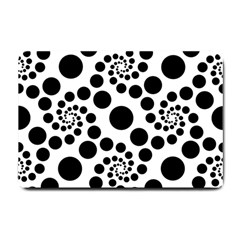 Dot Dots Round Black And White Small Doormat