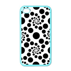 Dot Dots Round Black And White Apple iPhone 4 Case (Color)