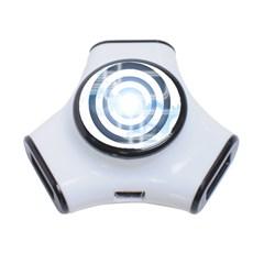 Center Centered Gears Visor Target 3-Port USB Hub